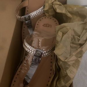UGG Silver sandals